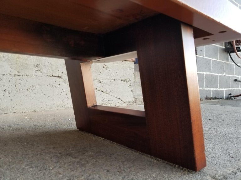 Paul Frankl Cork Top Coffee Table / Bench For Sale 6