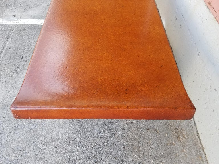 20th Century Paul Frankl Cork Top Coffee Table / Bench For Sale