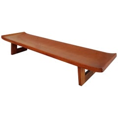 Paul Frankl Cork Top Coffee Table / Bench