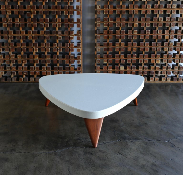 Paul Frankl Cork Top Coffee Table for Johnson Furniture, circa 1955 For Sale 1