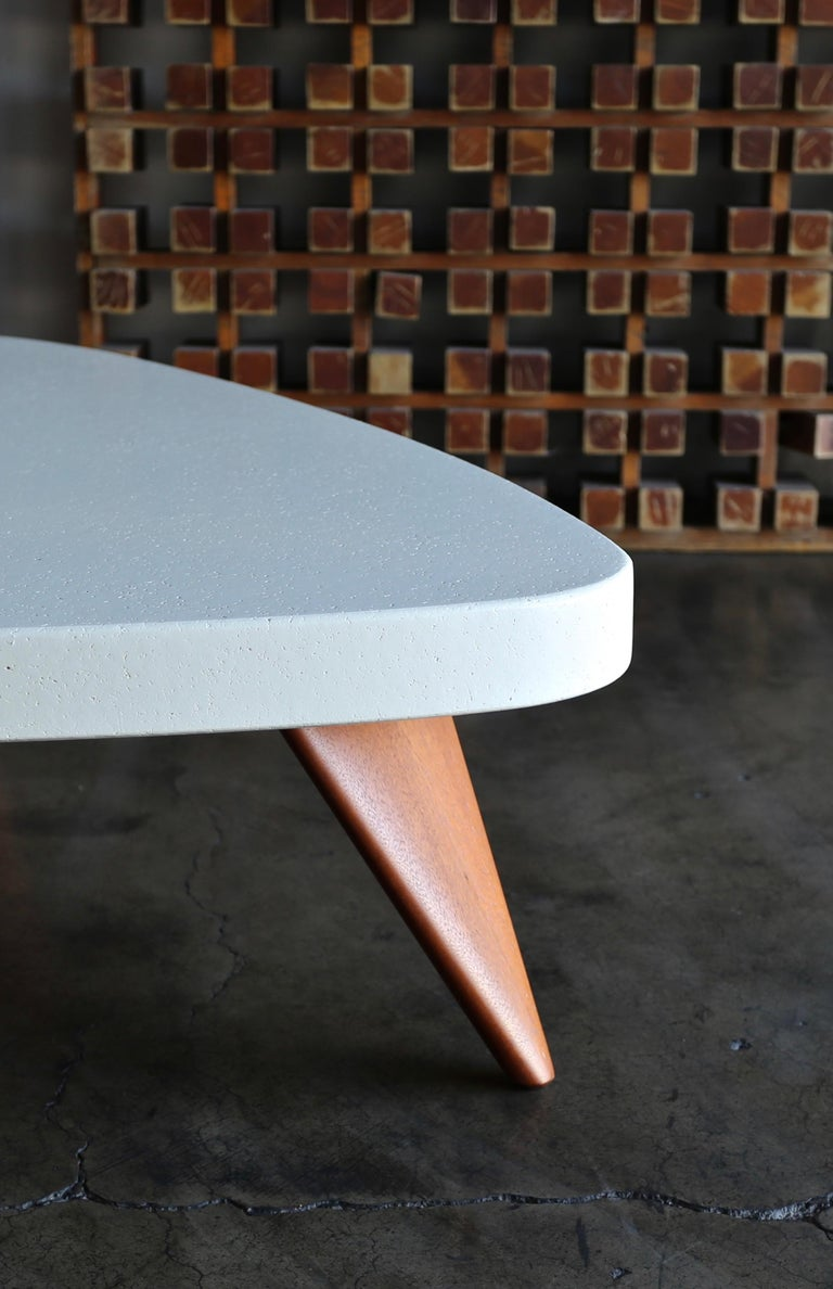 Paul Frankl Cork Top Coffee Table for Johnson Furniture, circa 1955 For Sale 3