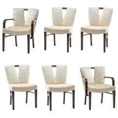 Paul Frankl Corset Back Dining Chairs, circa 1950