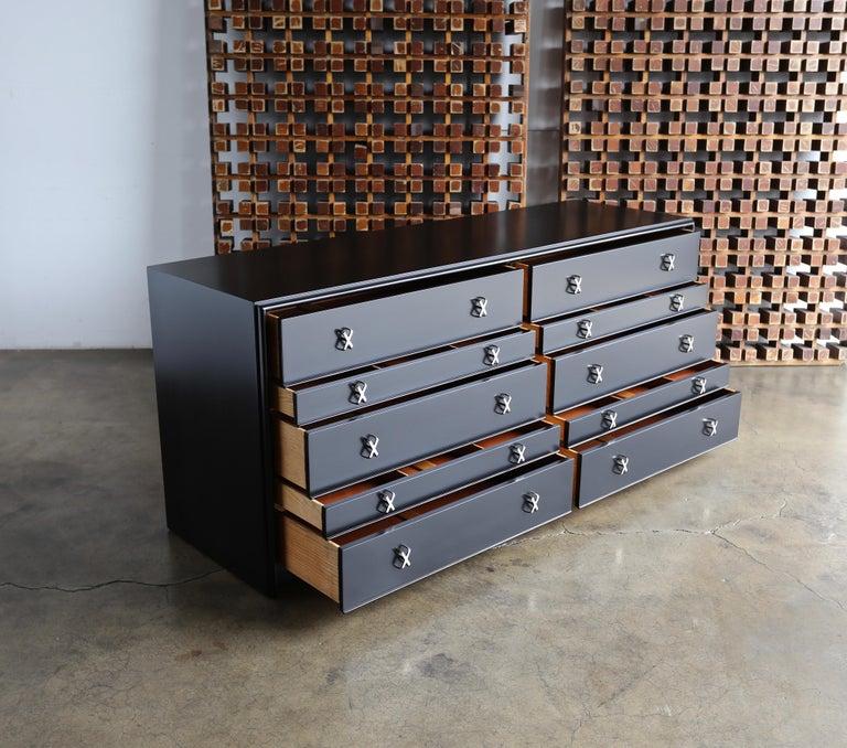 Paul Frankl Ebonized Chest for Johnson Furniture Company, circa 1950 For Sale 4