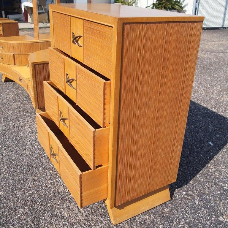American Paul Frankl For Brown Saltman Chest Dresser For Sale