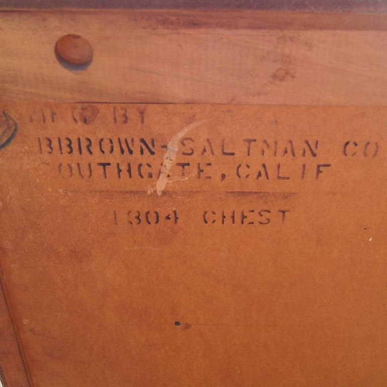 Brass Paul Frankl For Brown Saltman Chest Dresser For Sale