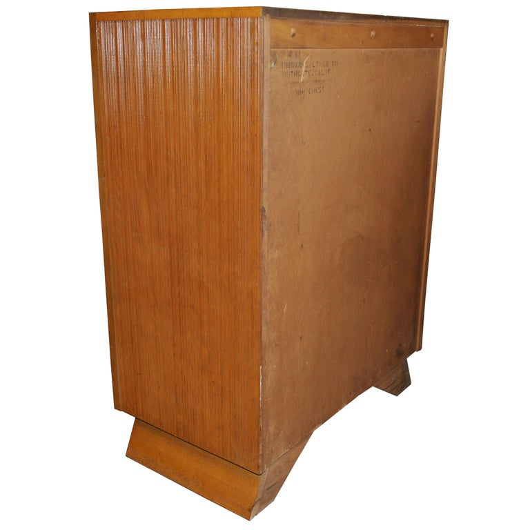 Paul Frankl For Brown Saltman Chest Dresser In Good Condition For Sale In Pasadena, TX