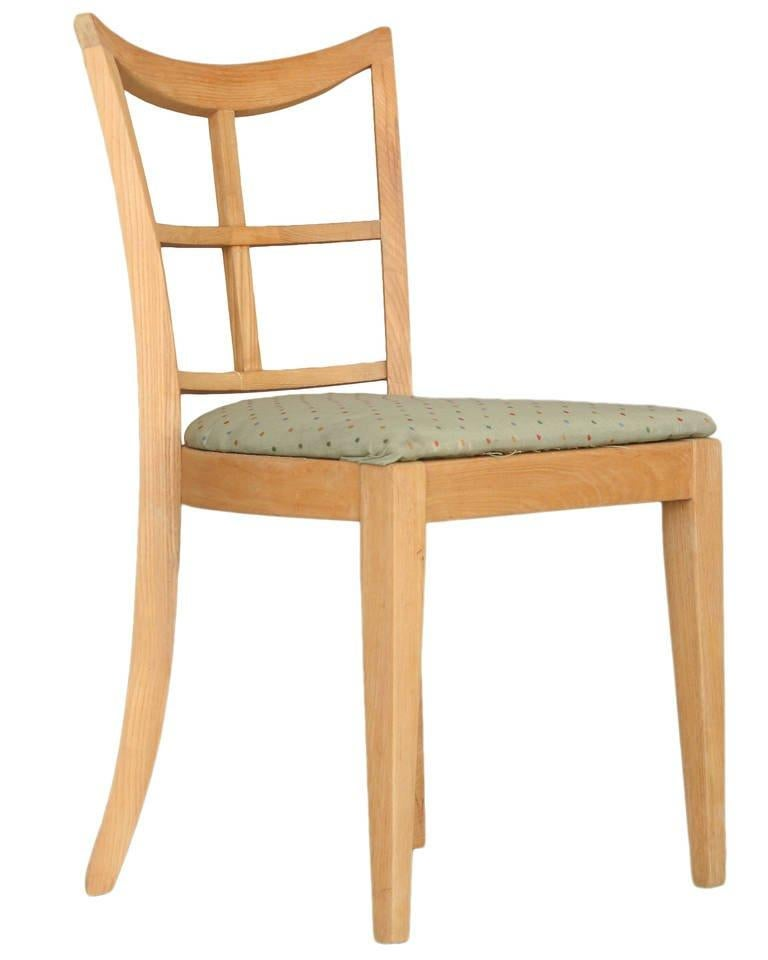 Mid-Century Modern Paul Frankl for Brown Saltman Dining Chair, Set of Four For Sale