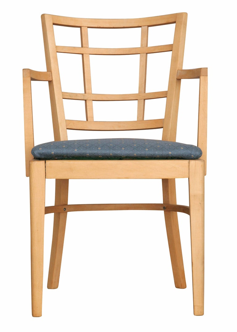 Mid-Century Modern Paul Frankl for Brown Saltman Dining Chair, Set of Seven For Sale