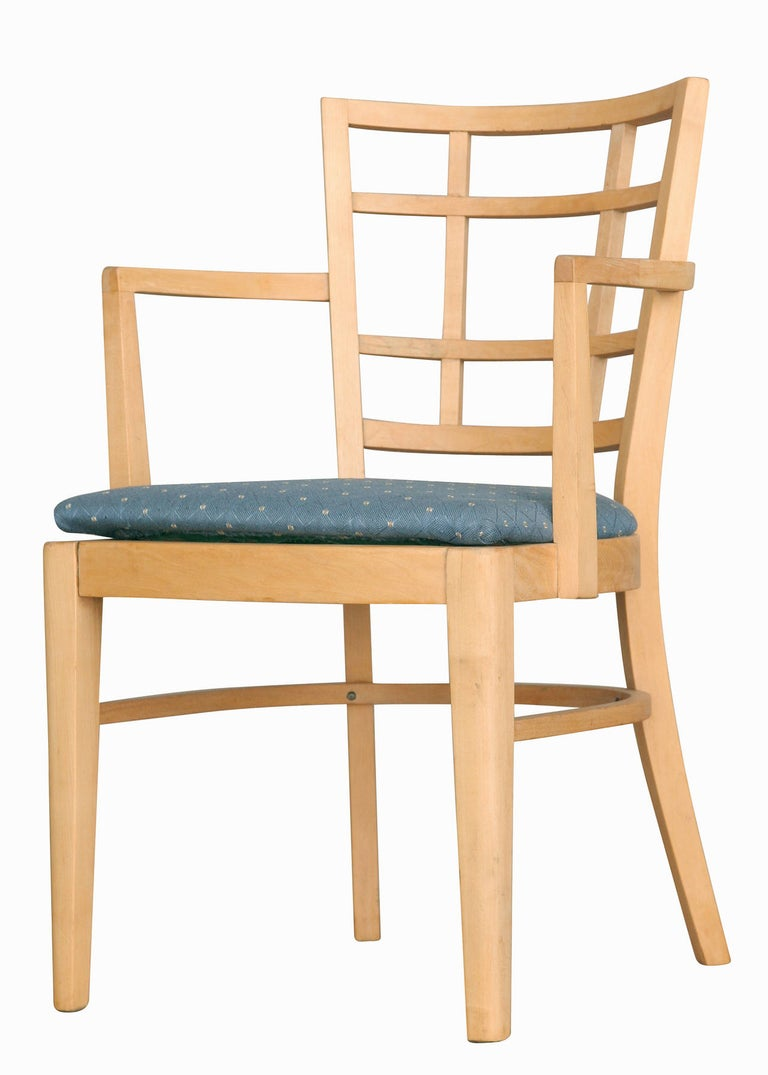 American Paul Frankl for Brown Saltman Dining Chair, Set of Seven For Sale