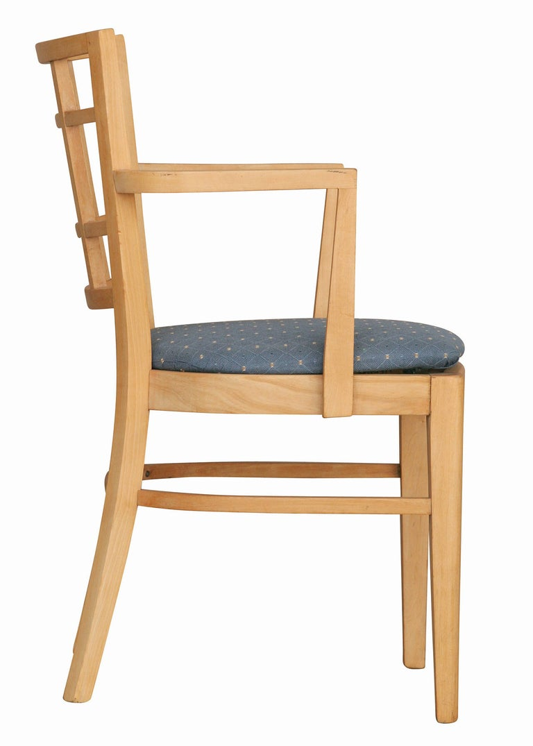 Paul Frankl for Brown Saltman Dining Chair, Set of Seven In Excellent Condition For Sale In Van Nuys, CA