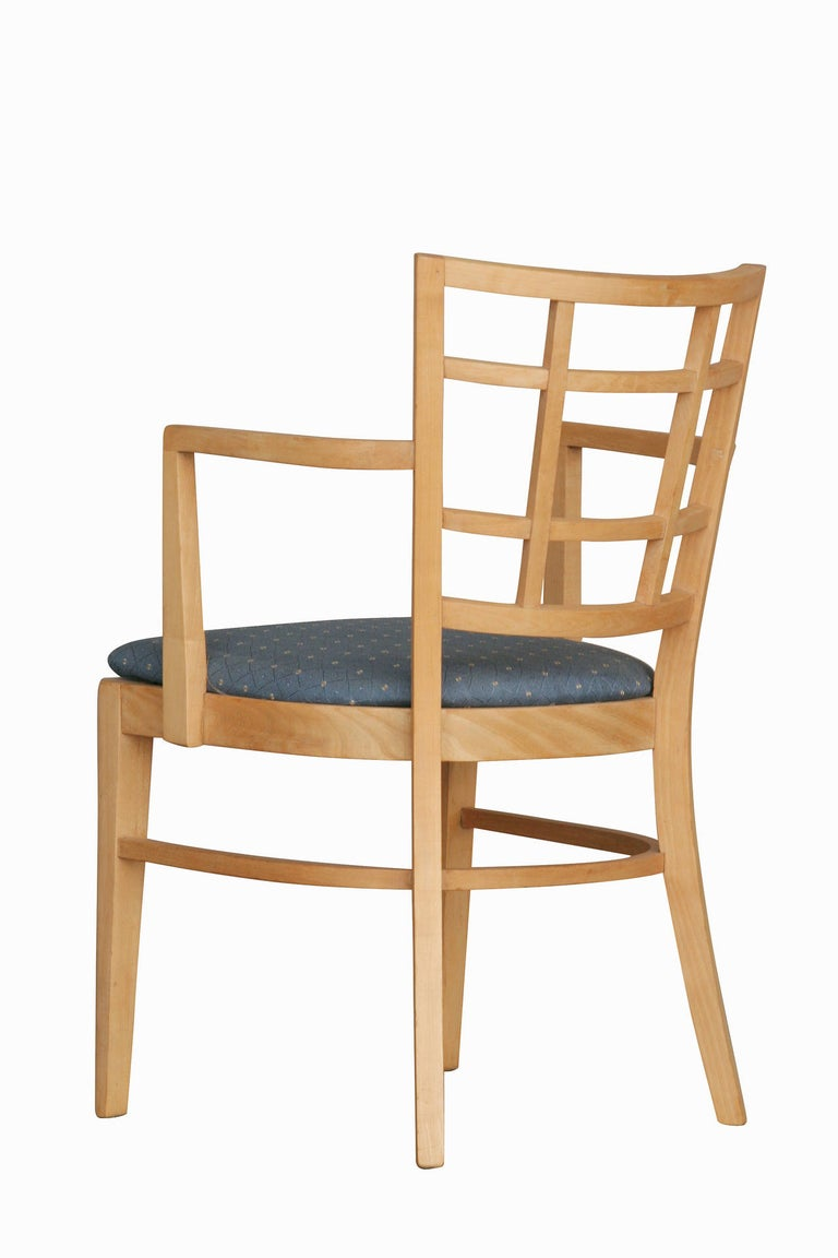 Mid-20th Century Paul Frankl for Brown Saltman Dining Chair, Set of Seven For Sale