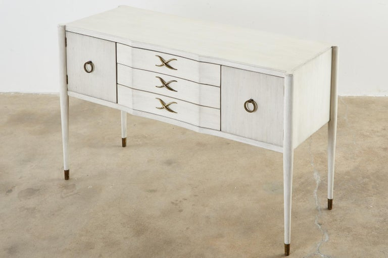 20th Century Paul Frankl for Brown-Saltman Lacquered Sideboard Credenza For Sale