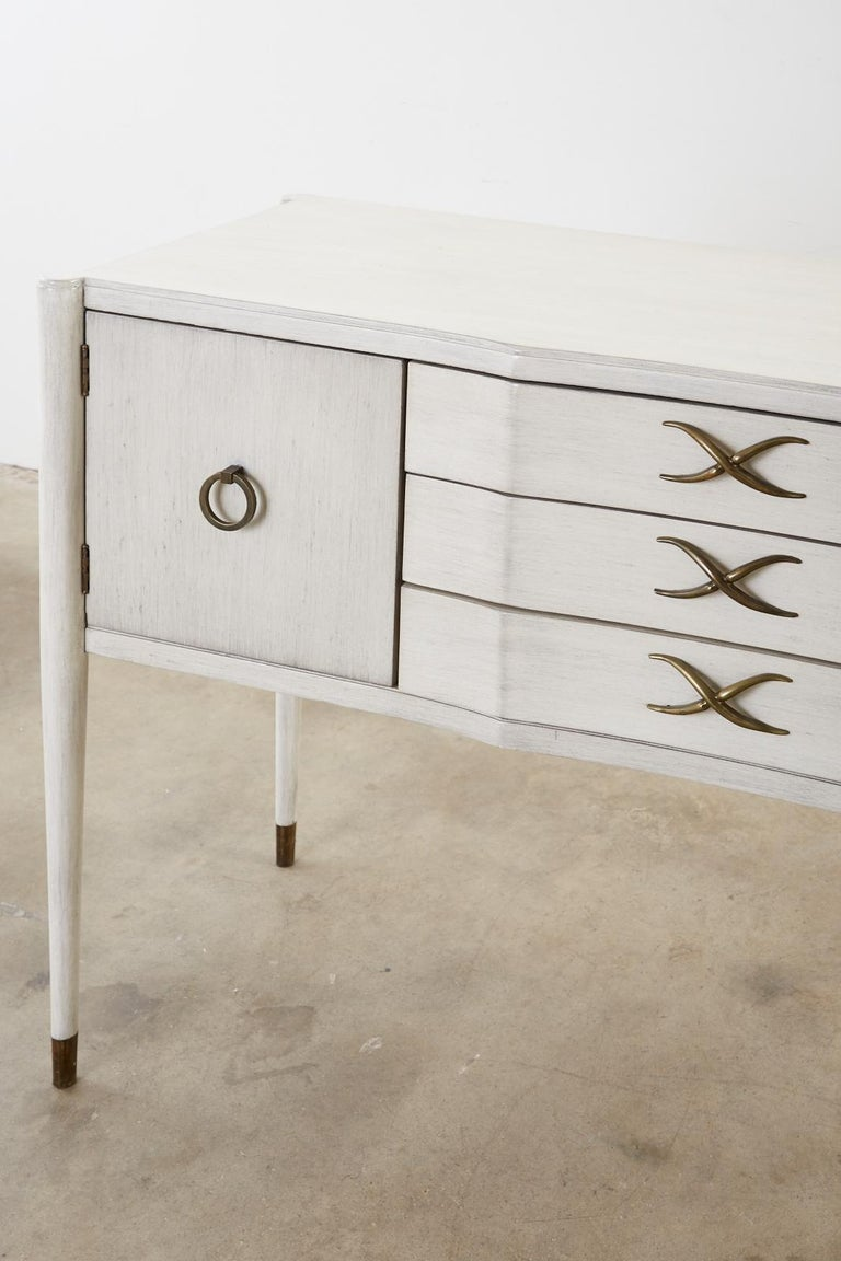 Paul Frankl for Brown-Saltman Lacquered Sideboard Credenza For Sale 1