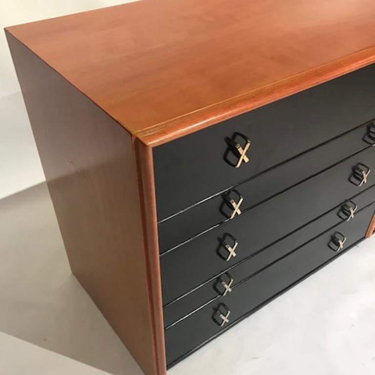 Mid-20th Century Paul Frankl for Johnson Furniture John Stuart 10 Drawer X Pull Dresser Chest