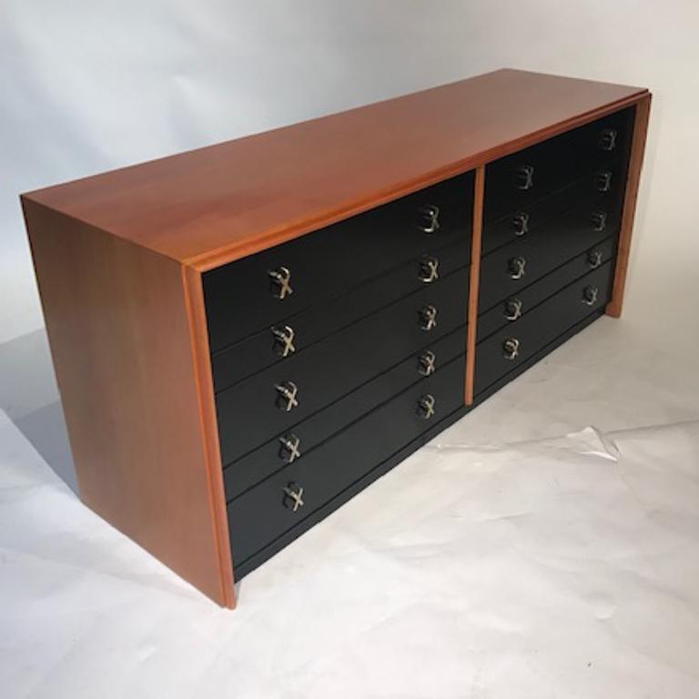 Paul Frankl for Johnson Furniture John Stuart 10 Drawer X Pull Dresser Chest 1