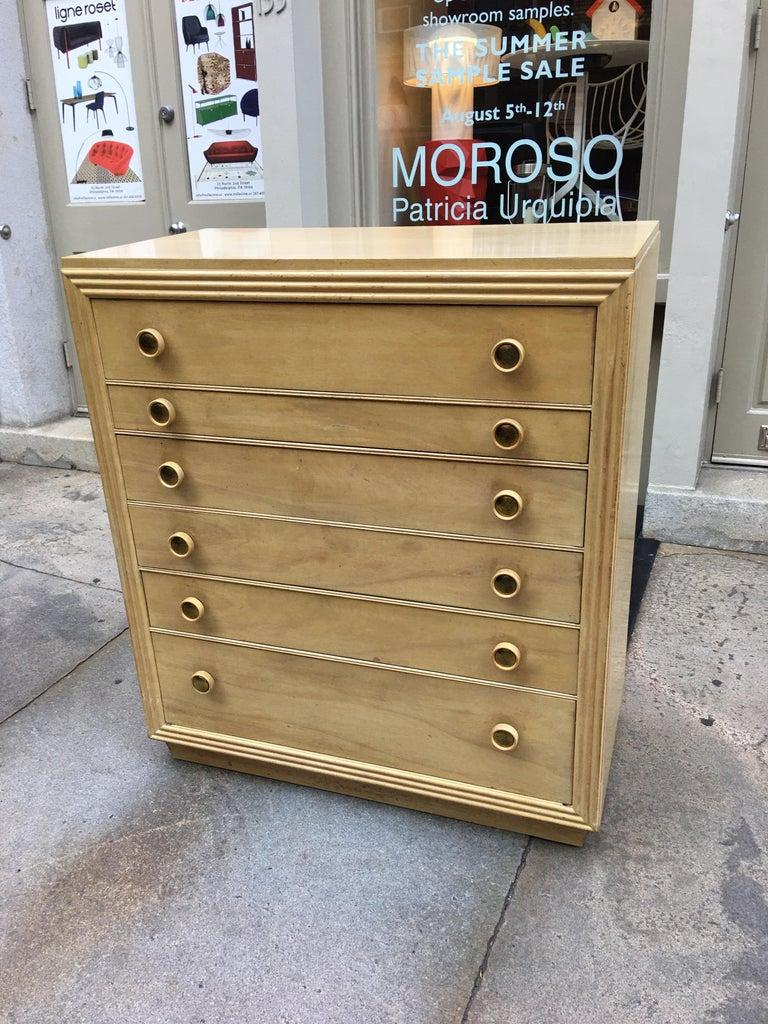 Mahogany Paul Frankl for Johnson Furniture King Headboard For Sale