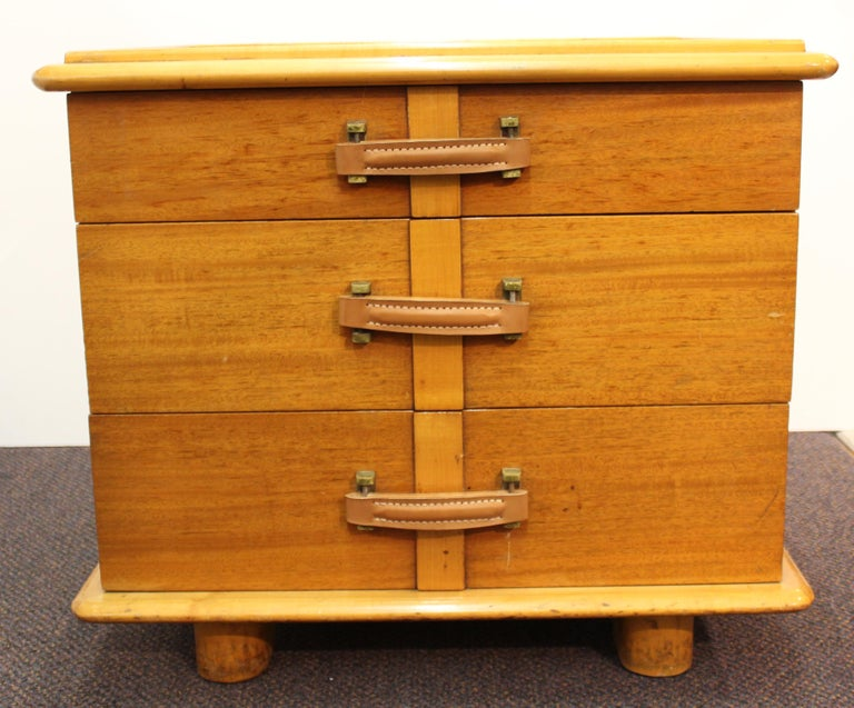 Mid-Century Modern Paul Frankl for Johnson Furniture Modern 'Station Wagon' Nightstands For Sale