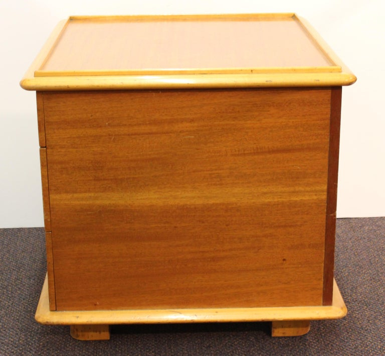 Mahogany Paul Frankl for Johnson Furniture Modern 'Station Wagon' Nightstands For Sale