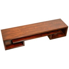 Paul Frankl for Johnson Furniture Rosewood Coffee Table, c. 1950s, Stamped
