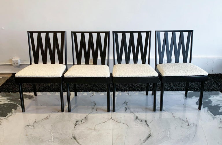 Mid-20th Century Paul Frankl for Johnson Furniture Zig Zag Dining Chairs, Set of 6 For Sale