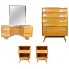 Paul Frankl Four-Piece Bedroom Set for Brown Saltman