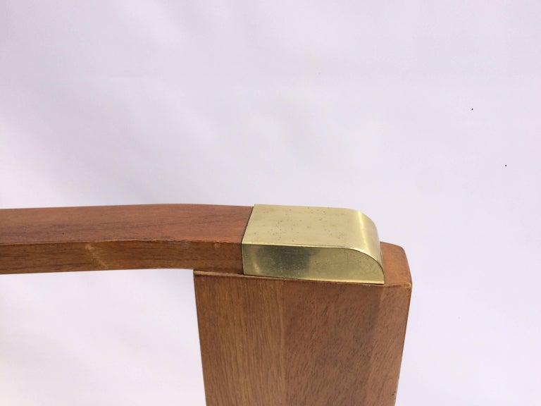 Paul Frank Bedroom In A Box: Paul Frankl King-Size Walnut And Brass Headboard For Sale