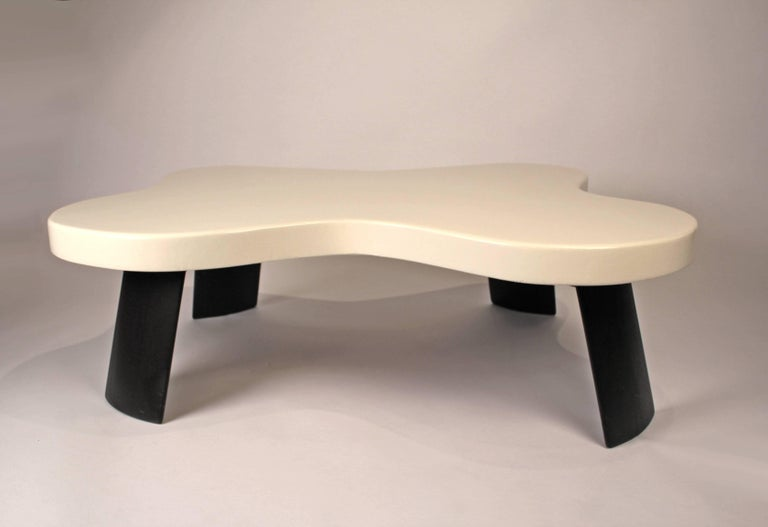 Mid-Century Modern Paul Frankl Lacquered Cork 'Amoeba' Cocktail Table For Sale