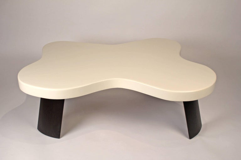 American Paul Frankl Lacquered Cork 'Amoeba' Cocktail Table For Sale