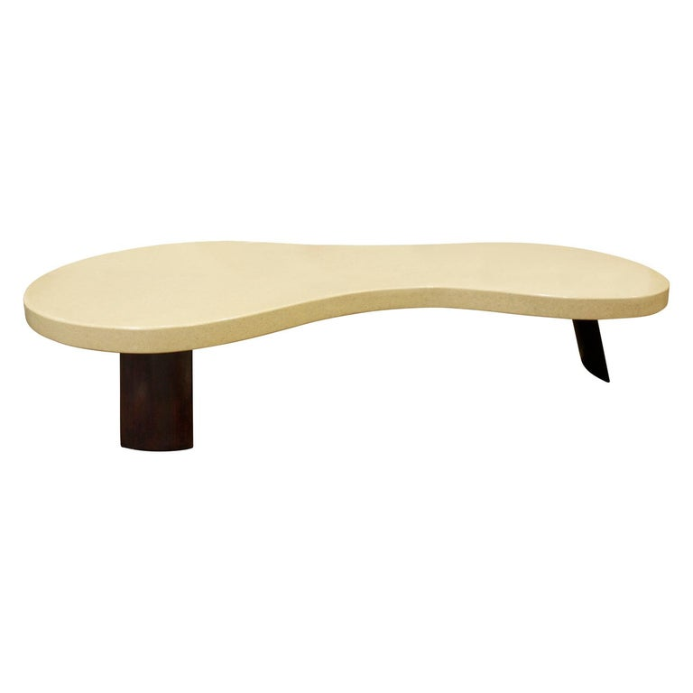 Paul Frankl Large Kidney Shaped Coffee Table 1950s