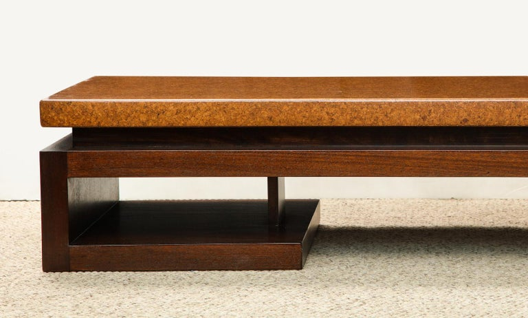 Modern Paul Frankl Low Cork Table For Sale