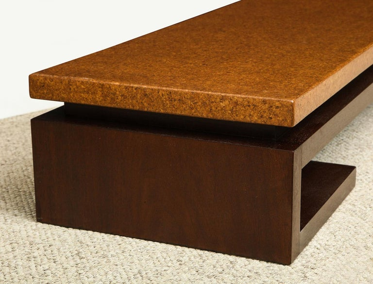 Paul Frankl Low Cork Table In Excellent Condition For Sale In New York, NY