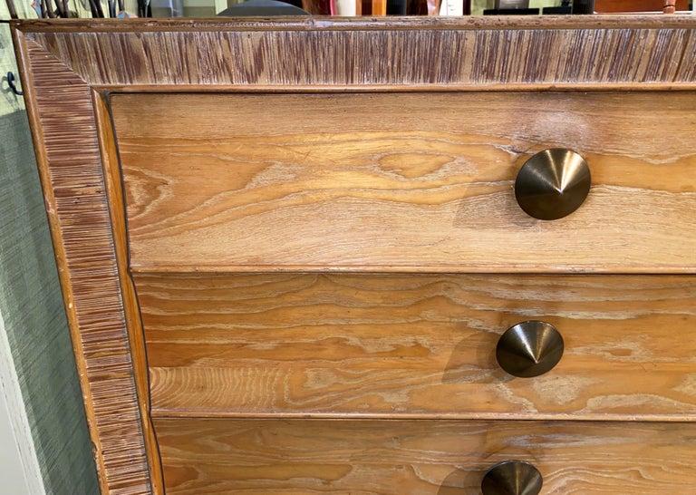 Mid-Century Modern Paul Frankl Mid Century Eight-Drawer Oak Dresser for Brown-Saltman For Sale