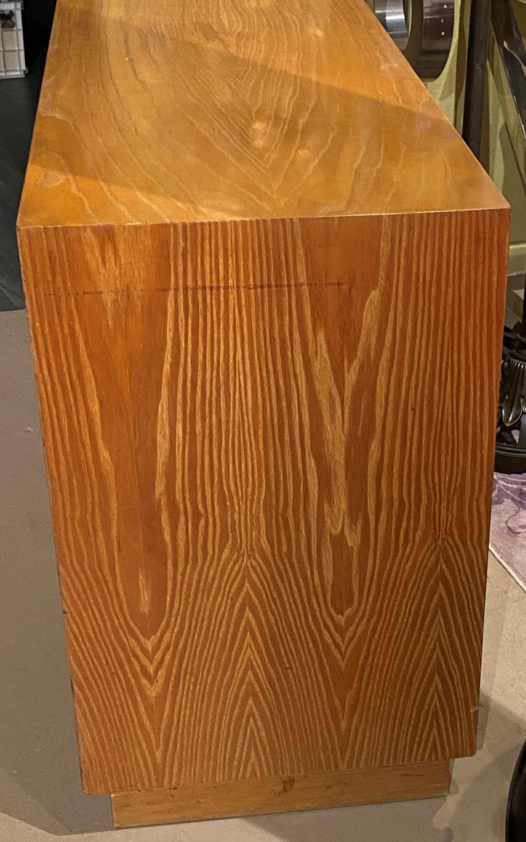 Hand-Crafted Paul Frankl Mid Century Eight-Drawer Oak Dresser for Brown-Saltman For Sale