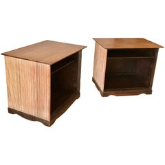 Paul Frankl Mixed Wood End Tables, 20th Century