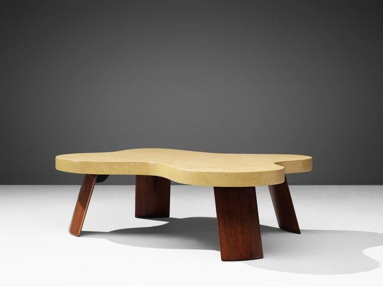 Mid-Century Modern Paul Frankl Model 5005 Coffee Table in Cork