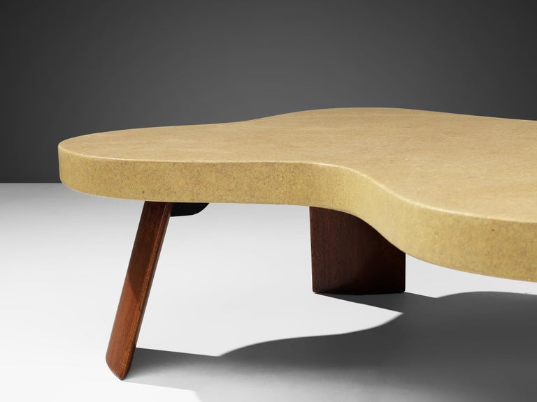 Paul Frankl Model 5005 Coffee Table in Cork In Good Condition In Waalwijk, NL