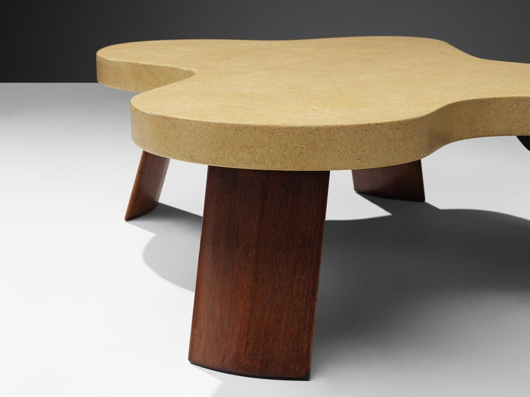 Mid-20th Century Paul Frankl Model 5005 Coffee Table in Cork