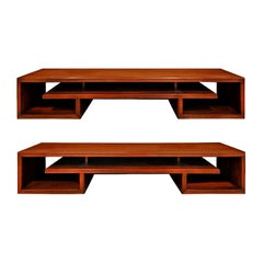 Paul Frankl Pair of Matched Low Coffee Tables in Brazilian Rosewood, 1940s