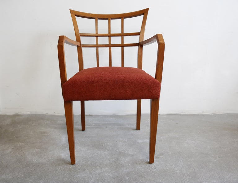 Mid-Century Modern Paul Frankl Set of Six Dining Room Chairs For Sale