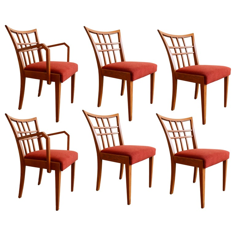 Paul Frankl Set of Six Dining Room Chairs For Sale