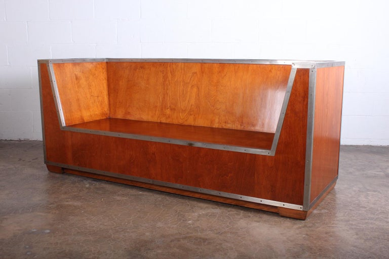 Walnut Paul Frankl Sofa Exhibited at the 1933-1934 Chicago World's Fair For Sale