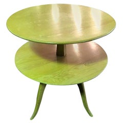 Paul Frankl Tiered Mid-Century Modern Side or Occasional Table for Saltman Brown