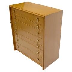 Paul Frankl X-Pulls Drawers High Chest Dresser