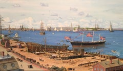 "McKay's Ship Yard- The Launching of Clippership ""Flying Cloud"" in 1851"