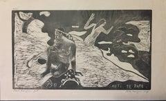 Auti te pape (Les Femmes à la Rivière) - Woodcut After Paul Gauguin 1891