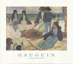 "PAUL GAUGUIN The Seaweed Harvesters 27.5"" x 31.5"" poster 1988 Neutral"