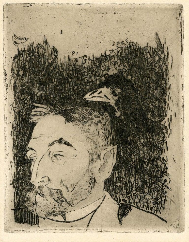 Paul Gauguin Portrait Print - Portrait of Stephane Mallarme