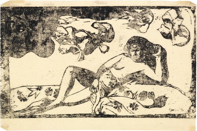 Paul Gauguin Figurative Print - Te Arii Vahine - Opoi / La femme aux mangos - Fatigué