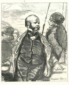 Chit-hat - Original Lithograph after Paul Gavarni - 1881