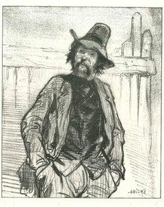 Gallant - Original Lithograph after Paul Gavarni - 1881